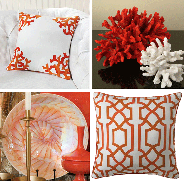 Red coral home decor