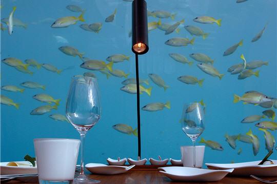 Infraestructura bajo el mar for Hotel en maldivas con restaurante bajo el agua