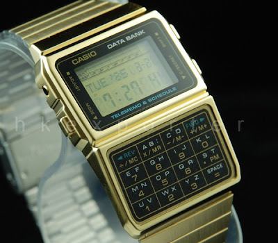 CASIO, gold, watch, retro, vintage, telememo