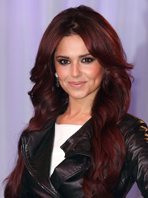 red hair colours 2010. cheryl cole red hair colour.