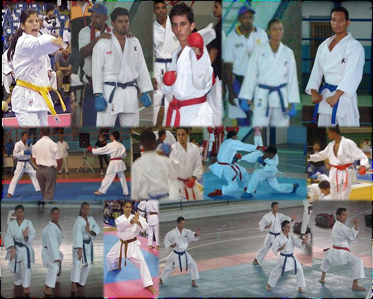 Integrantes del equipo de Karate del CUFM
