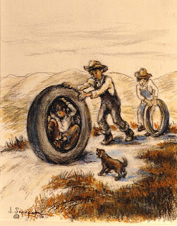 Sampson sketch - Fun in the 1930s Sandhills]