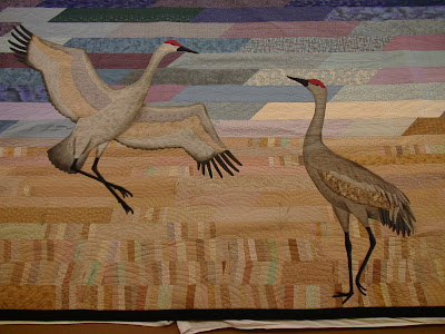 [Dancing cranes on Crane River Morning]
