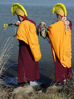 [Tibetan Monks at Oak Lake]