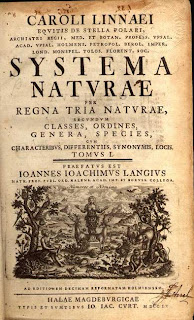 [Cover of a volume of Systema Naturae, Courtesy of Wikipedia.]