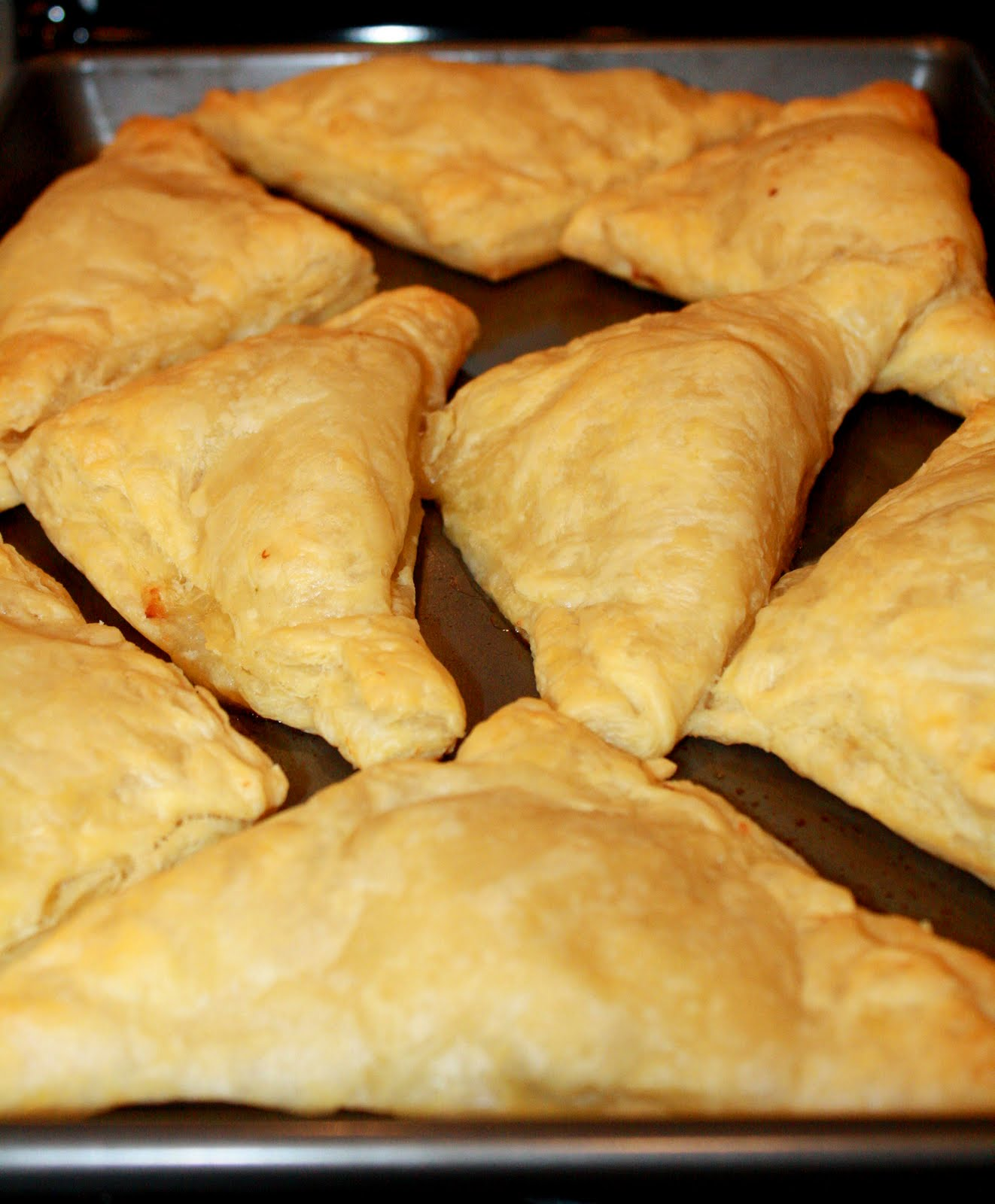 made these tasty little chicken turnovers for dinner tonight. My ...