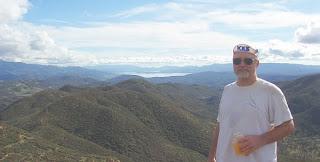 view from ridgetop to Lake Berryessa