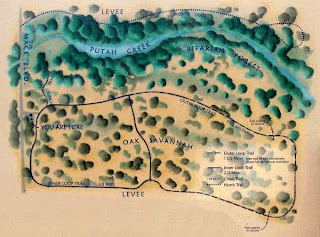 Map of trails at South Fork Putah Creek Preserve