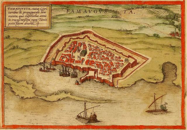 Mapa da cidade de Famagusta em 1568