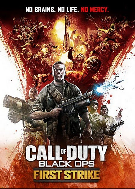Black Ops First Strike DLC Zombie Ascension Poster Call of Duty Black Ops