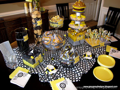 I Decided On A Candy Dessert Buffet Since This Was An Afternoon Event Plus Then We Could Do Really Fun Theme Colored Display Of Foods
