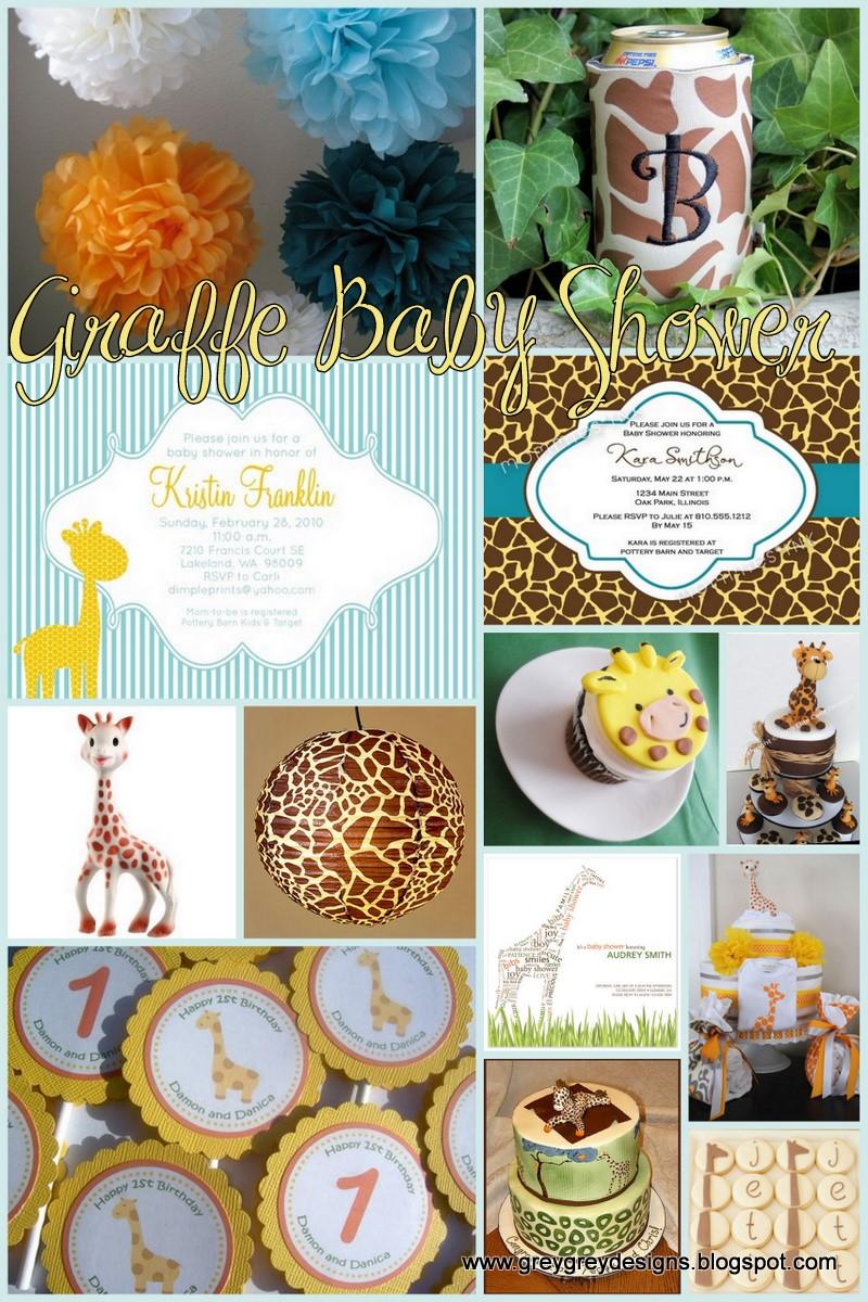 theme baby giraffes theme first birthdays baby shower themes