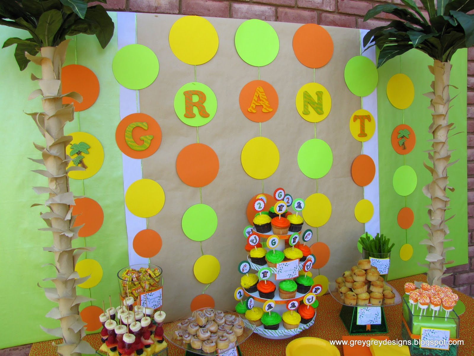 GreyGrey Designs My Parties Grants Jungle Book 2nd Birthday Party
