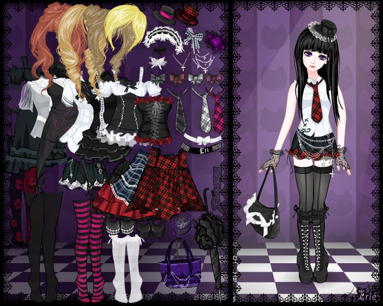 goth dress up and makeup games