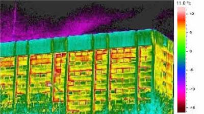 Huella térmica de un edificio