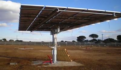 Seguidor Solar de un Parque en construcción en Albacete