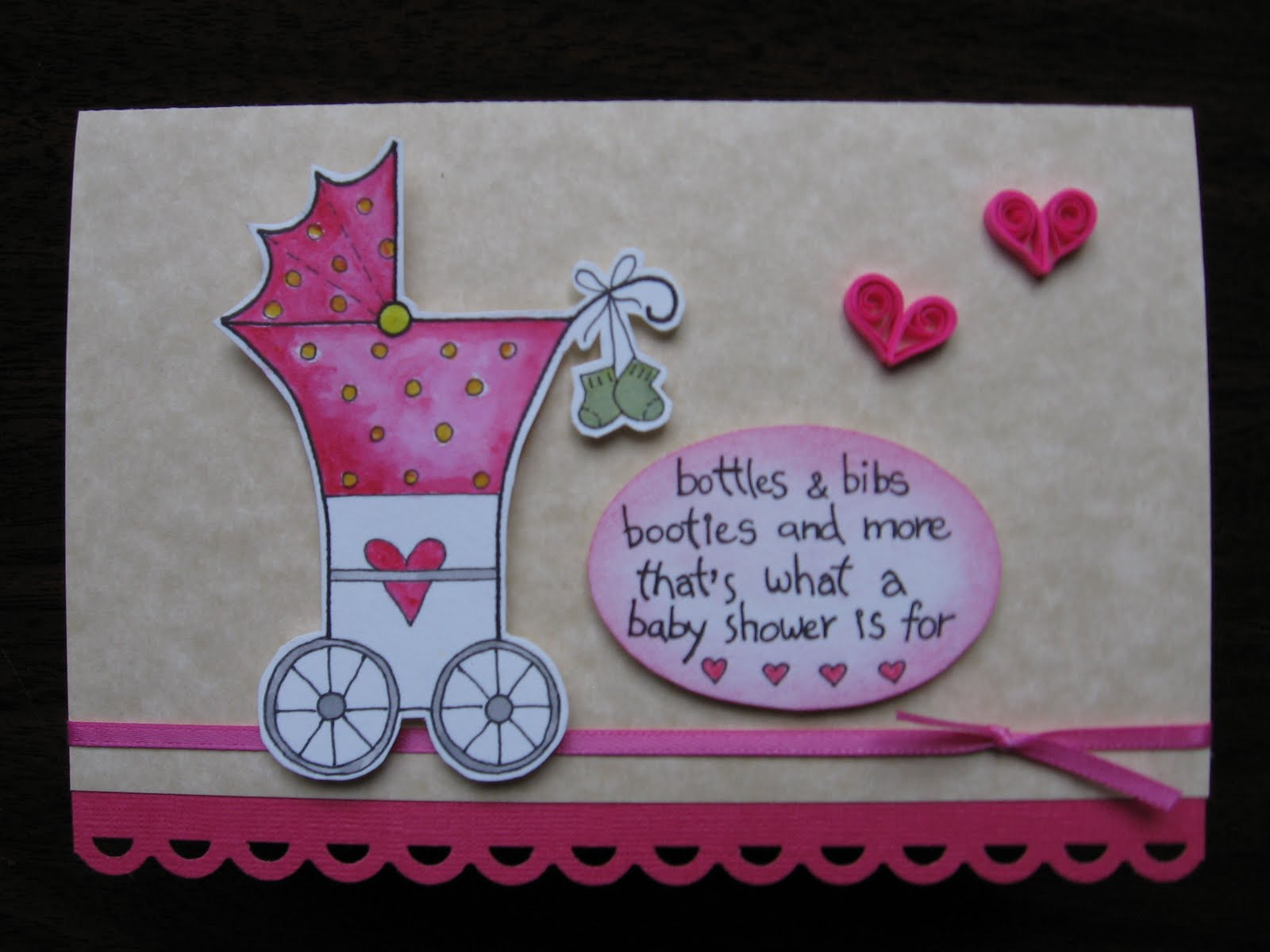 Quilling ideas baby shower card baby shower card negle Gallery