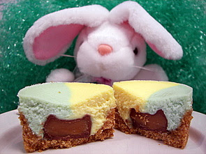 ... the Desert: Mini Easter Cheesecakes With A Chocolate Caramel Surprise
