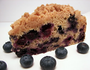 Vegan Blueberry Buckle Sliced Picture