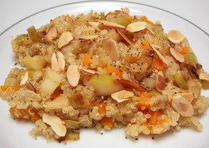 Hearty Quinoa with Sauted Apples and Almonds