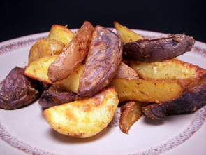 Spicy Roasted Potato Wedges