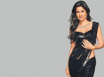 Katrina Kaif in Black Saree title=