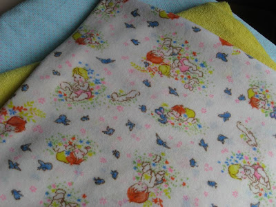 Pickle things fabulous fabric week vintage babies for Retro baby fabric