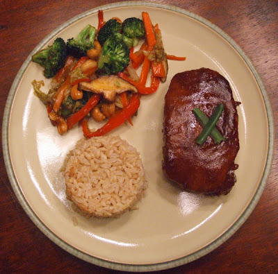 Hoisin and Honey Glazed Pork Chops + Vegetable Stir Fry