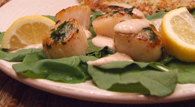 The Recipe Girl: Caramelized Scallops with Smoked Chili Cream
