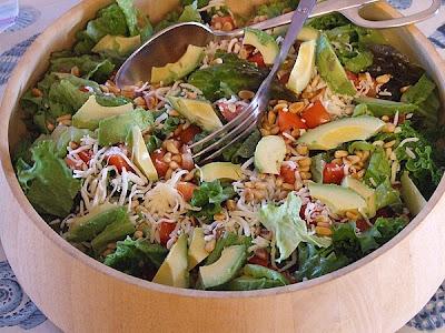 The Recipe Girl: A Tried and True Favorite: Avocado- Pine Nut Salad