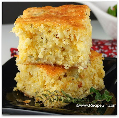 The Recipe Girl: Brown Butter Cornbread with Farmer Cheese and Thyme