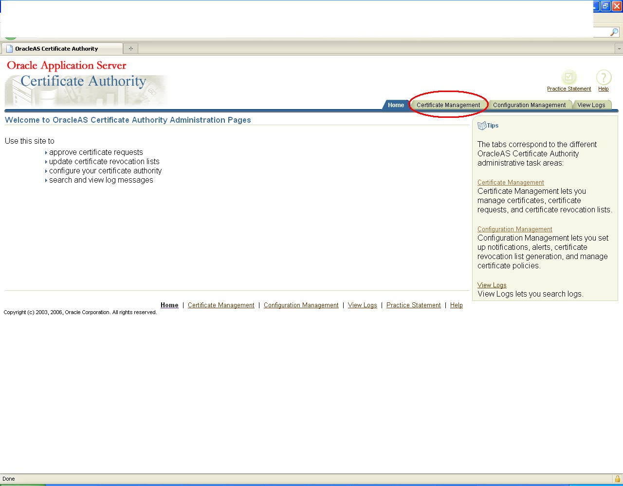 Learning Soa Approving A Certificate By Oca Administrator