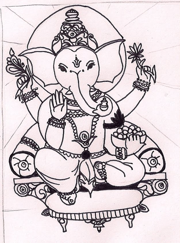 Ganesha Drawing Thought this drawing would