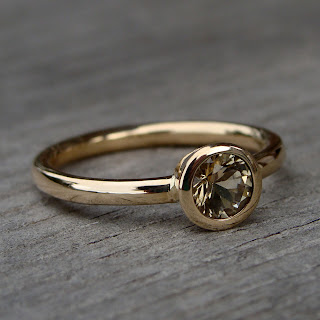 gold citrine ring