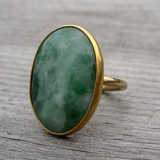 gold jade ring