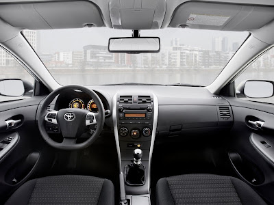 Toyota Corolla 2010 Black. 2010 Toyota Corolla Interior