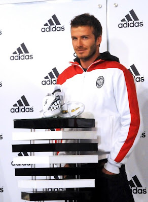 David Beckham with Adidas Shoes