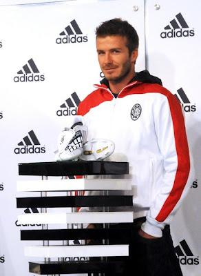 David Beckham with Adidas Shoes
