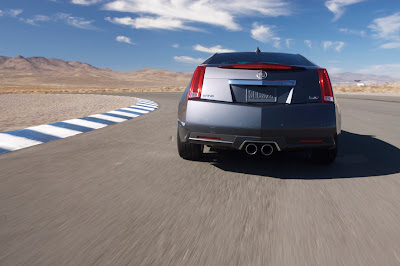 2011 Cadillac CTS-V Coupe Rear View