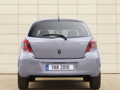 2010 Toyota Yaris Rear View