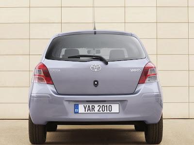 2010 Toyota Yaris Rear View