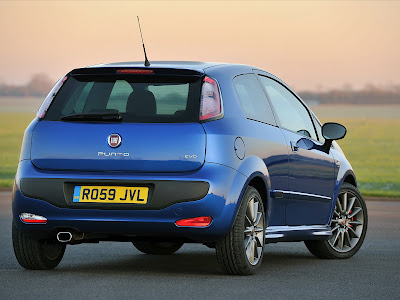 2010 Fiat Punto Evo Rear View