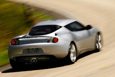 2010 Lotus Evora Rear Angle View
