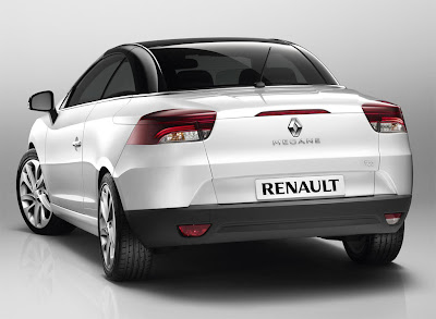 2011 Renault Megane Coupe Cabriolet Rear Angle View