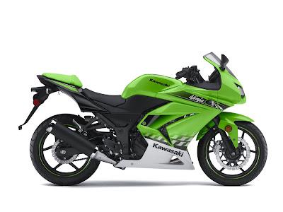 2010 Kawasaki Ninja 250R Green
