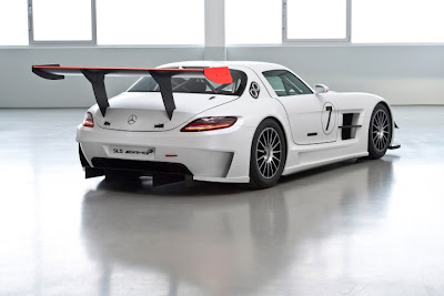 2010 Mercedes-Benz SLS AMG GT3 Rear Angle View