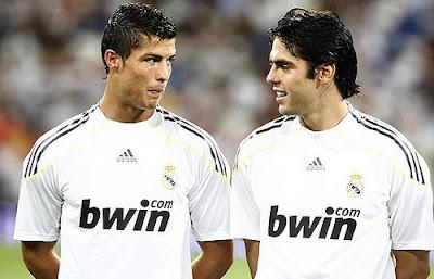 Kaka and Cristiano Ronaldo Pictures