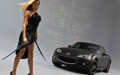 Mazda MX5 Matte Black Special Edition Front Angle View