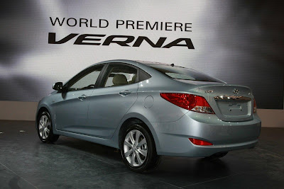 2011 Hyundai Verna-Accent Rear Angle View