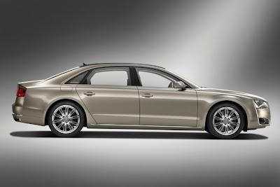 2011 Audi A8 L Side View